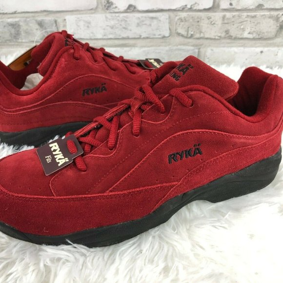Ryka Shoes   Catalyst Womens Red Suede